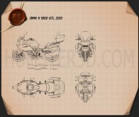 BMW K 1600 GTL 2013 Blueprint