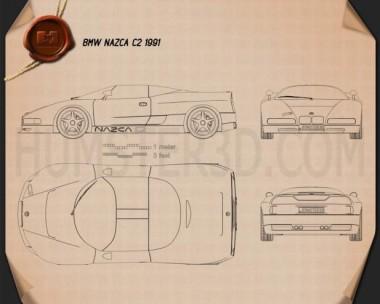 BMW Nazca C2 1991 Blueprint
