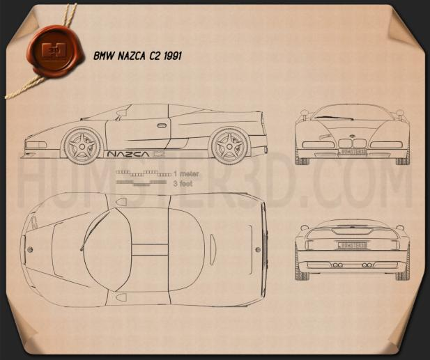 BMW Nazca C2 1991 Blueprint