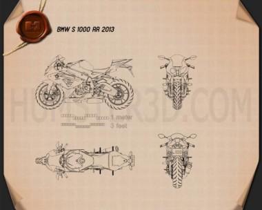 BMW S1000RR 2013 Blueprint