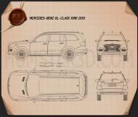Mercedes-Benz GL-Class X166 2013 Blueprint