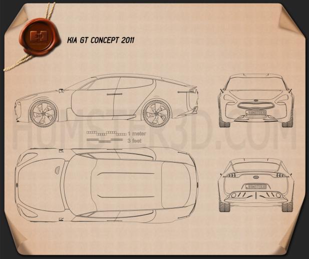 Kia GT 2011 Blueprint