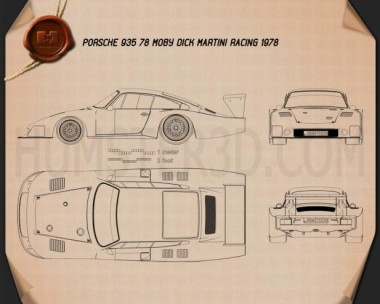 Porsche 935/78 Moby Dick 1978 Blueprint