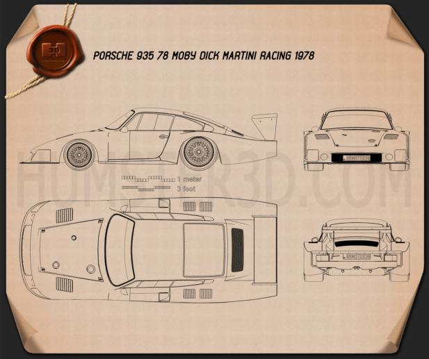 Porsche 935/78 Moby Dick 1978 Blueprint