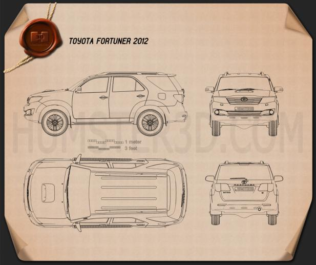 Toyota Fortuner 2012 Blueprint