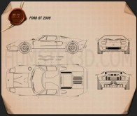 Ford GT 2006 Blueprint