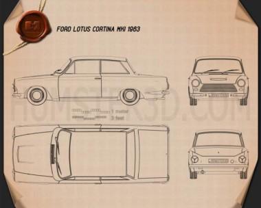 Ford Lotus Cortina Mk1 1963 Blueprint