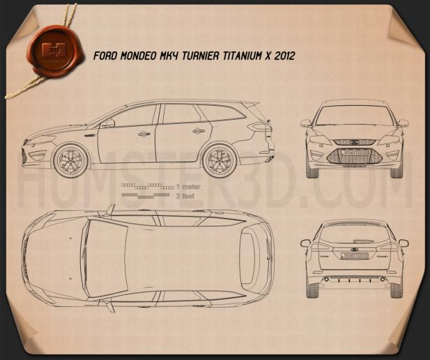 Ford Mondeo Turnier Titanium X Mk4 2012 Blueprint