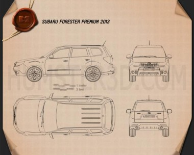Subaru Forester Premium 2011 Blueprint