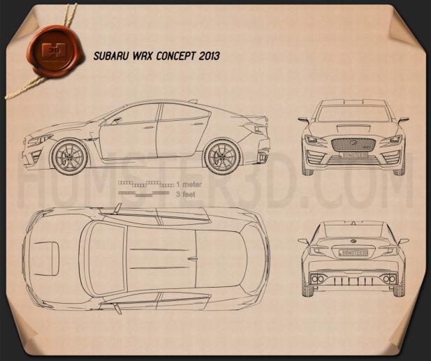 Subaru WRX concept 2013 Blueprint