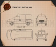 Citroen Jumpy Van 2004 Blueprint