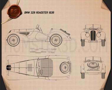 BMW 328 1936 Blueprint