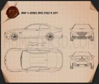 BMW M4 (F82) 2014 Blueprint