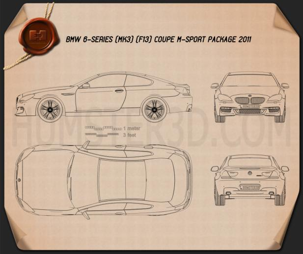 BMW M6 (F13) Coupe 2012 Blueprint