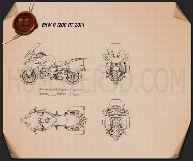 BMW R1200RT 2014 Blueprint