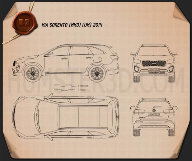 Kia Sorento UM 2015 Blueprint