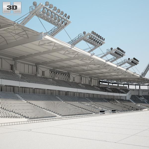 stadium municipal de toulouse 3d model hum3d. Black Bedroom Furniture Sets. Home Design Ideas