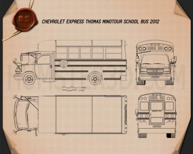 Thomas Minotour School Bus 2012 Blueprint