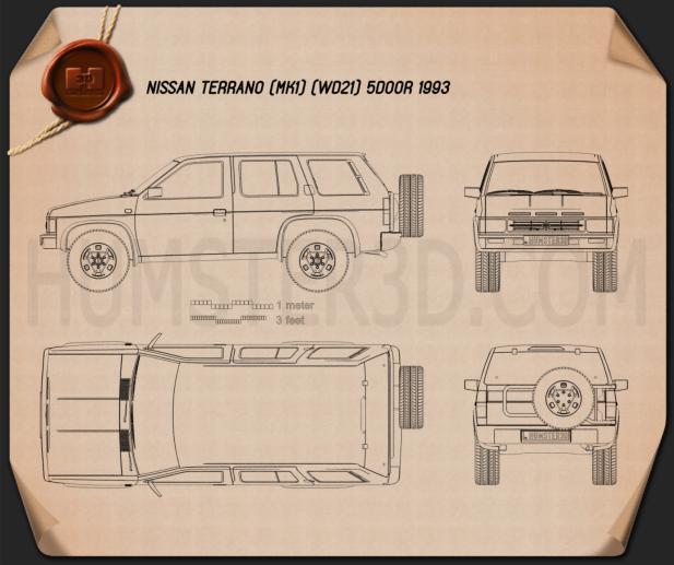 Nissan Terrano (Pathfinder) 1993 Blueprint