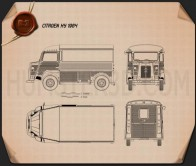 Citroen H Van 1964 Blueprint
