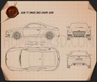 Audi TT (8S) coupe 2015 Blueprint