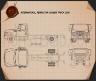 International TerraStar Chassis Truck 2010 Blueprint