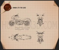 Honda CTX700 2012 Blueprint