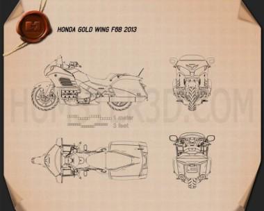 Honda Gold Wing F6B 2013 Blueprint