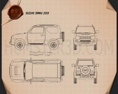 Suzuki Jimny 2013 Blueprint