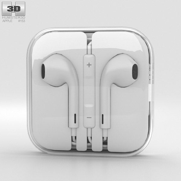 Apple Earpods 3d Model Electronics On Hum3d