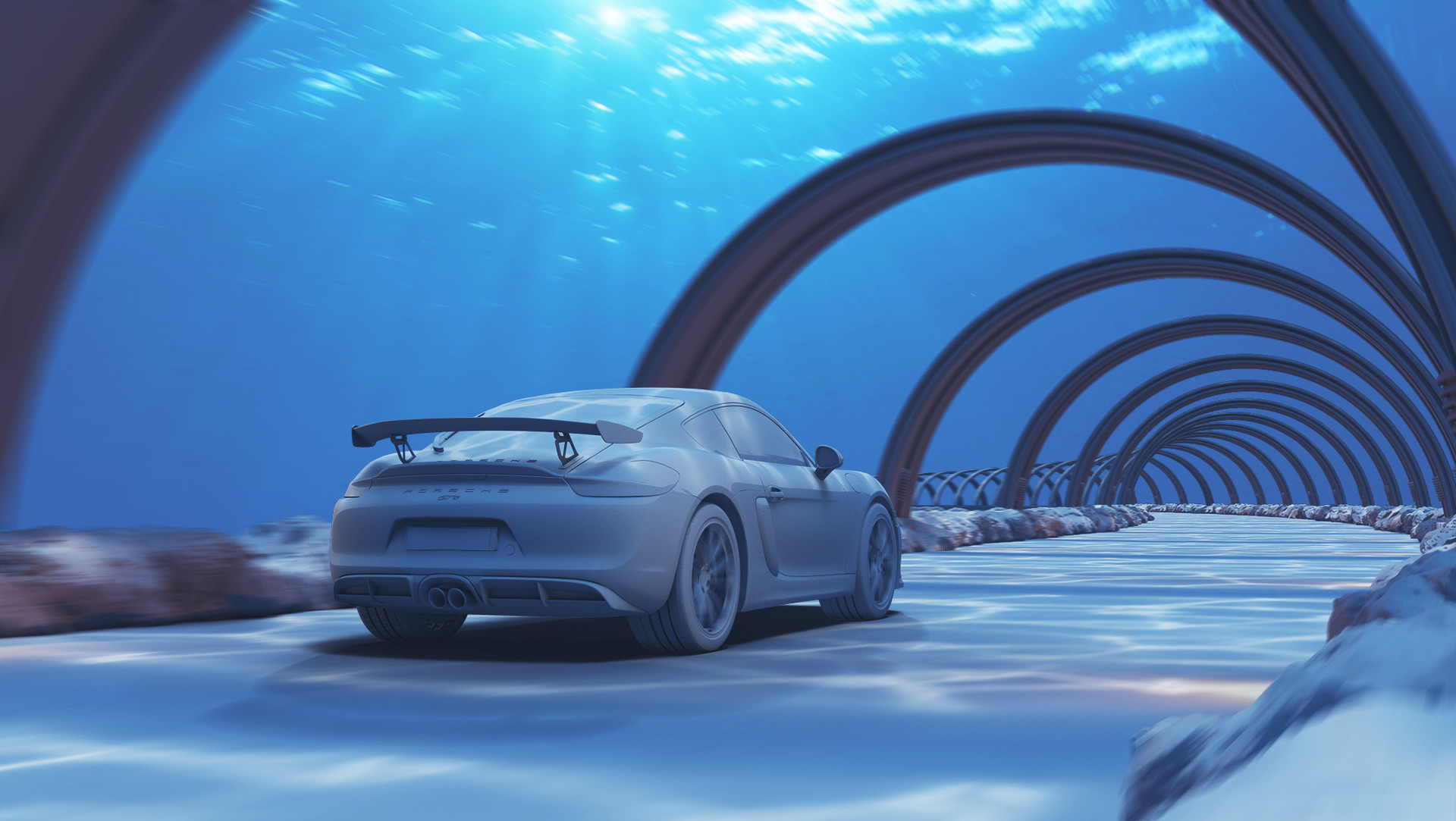 Porsche Underwater Road Cg Inspiration Hum3d