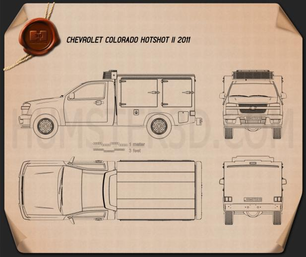 Chevrolet Colorado Hotshot II 2011 Blueprint