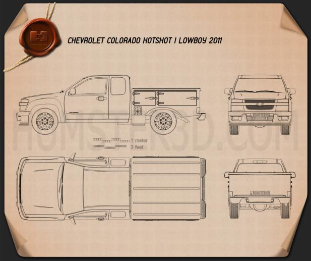 Chevrolet Colorado Hotshot I Lowboy 2011 Blueprint