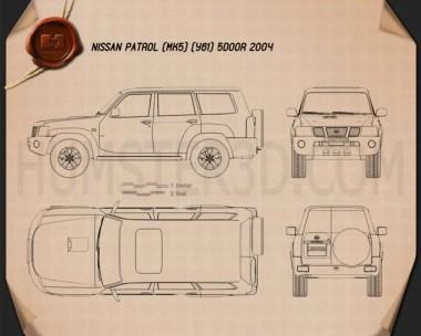Nissan Patrol (Y61) 2004 Blueprint