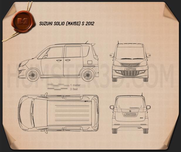 Suzuki Solio S 2012 Blueprint