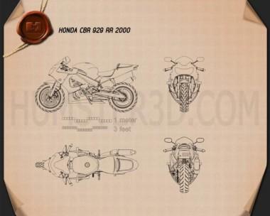 Honda CBR929RR 2000 Blueprint