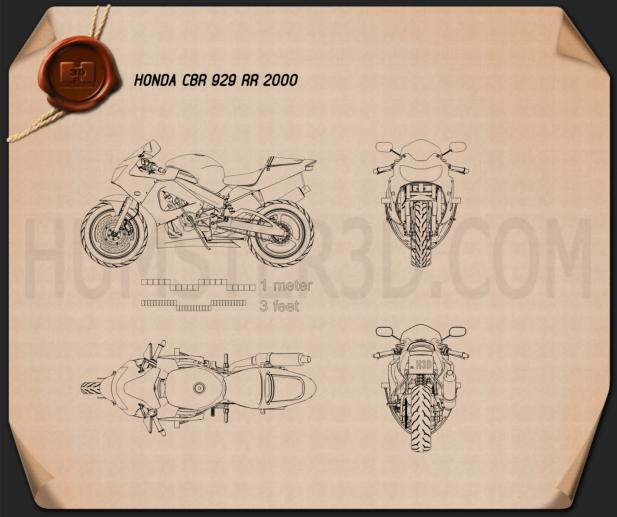 Honda CBR929RR 2000 Blueprint