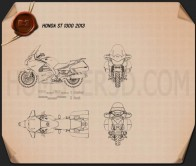 Honda ST1300 2013 Blueprint