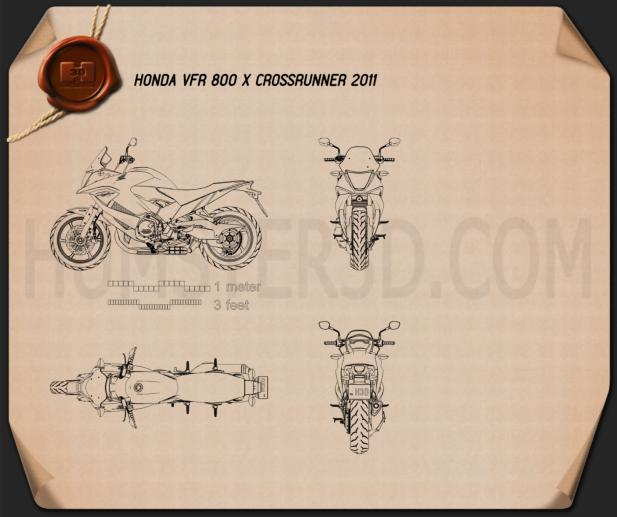 Honda VFR800X Crossrunner 2011 Blueprint