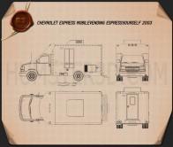 Chevrolet Express Mobile Vending 2003 Blueprint