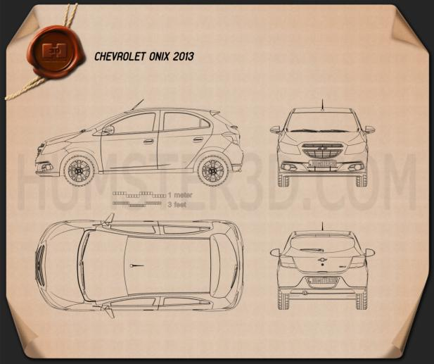 Chevrolet Onix 2013 Blueprint