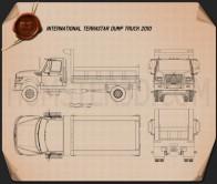 International TerraStar Dump Truck 2010 Blueprint