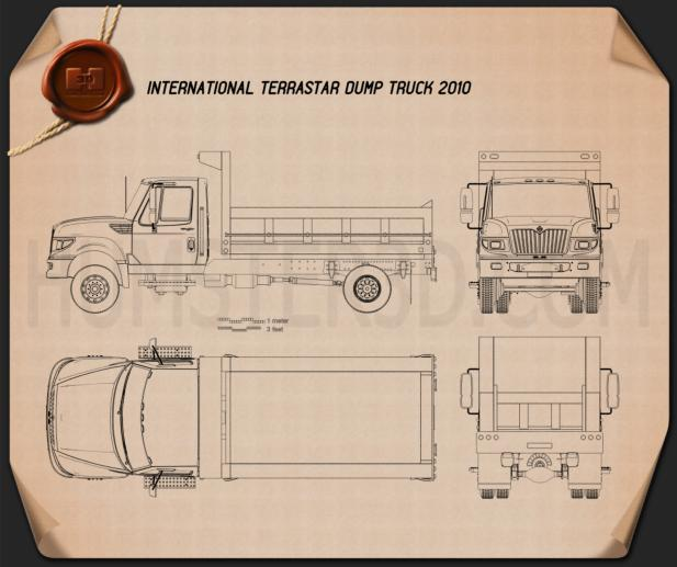 International TerraStar Dump Truck 2010 Blueprint