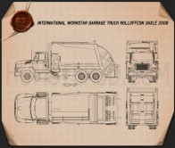International WorkStar Garbage Truck Rolloffcon 2008 Blueprint
