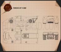 Porsche 917 K 1969 Blueprint