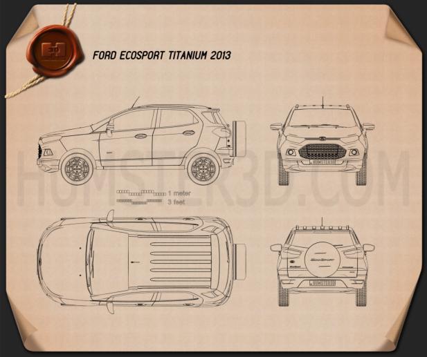 Ford Ecosport Titanium 2013 Blueprint