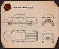 Toyota Hilux Double Cab 2012 Blueprint