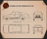 Mitsubishi L200 Triton Barbarian Black 2012 Blueprint