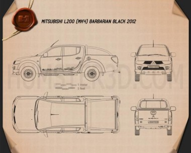 Mitsubishi L200 Triton Barbarian Black 2012 Blueprint