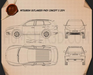 Mitsubishi Outlander PHEV S 2014 Blueprint